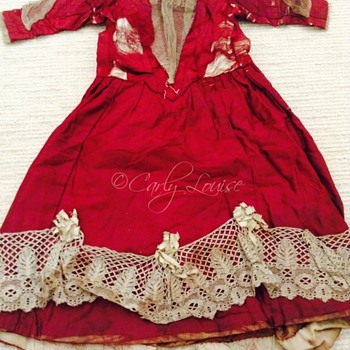 Antique Silk Doll Dress