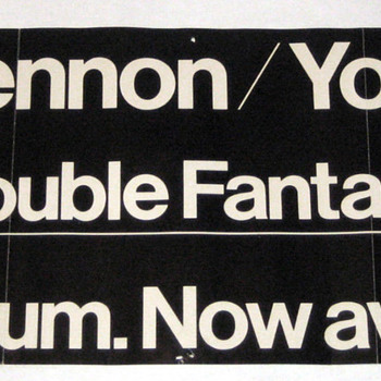 John Lennon promo poster-1980 - Music Memorabilia