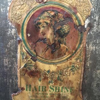 Hair Shine can - Advertising