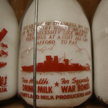 Portland Milk Producers BATTLESHIP Milk Bottle.......