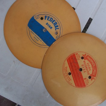 THE FIRST HOME RECORDING DISCS  THESE SHOWN, 1941-42 - Records