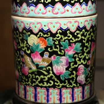 Large Chinese Covered Jar - Pottery