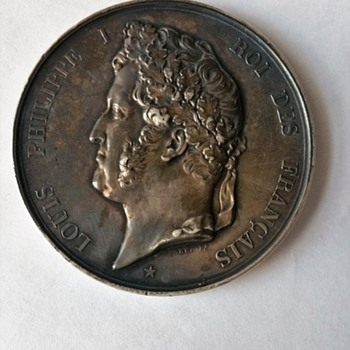 1840 King Louis Phillippe silver medal??? I think is silver lol - World Coins