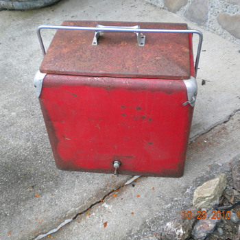 Antique Soda Cooler, - Coca-Cola