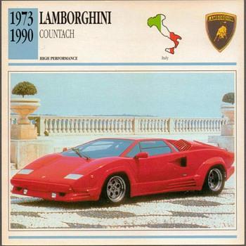 Vintage Car Card - Lamborghini Countach