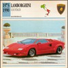 Vintage Car Card - Lamborghini Countach