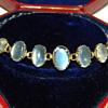 Antique Victorian Ceylon Moonstone 9ct 9k Bracelet