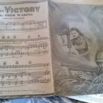 1942 Miss victory by fred waring lyrics by jack dolph - Music Memorabilia