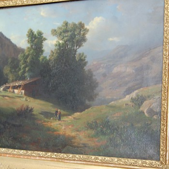 European-Mountain Painting 1800  - Fine Art