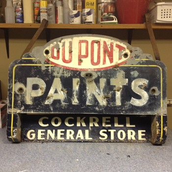 Vintage DU PONT Paint Sign W/Cockrell's General Store sign - Signs