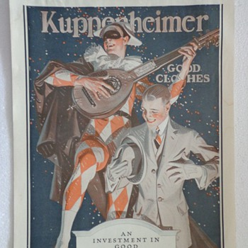 1922 Kuppenheimer Ad  - Advertising
