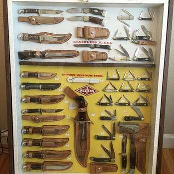 1977 Western Knife Display Hardware Store - Tools and Hardware