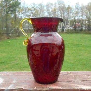 Beautiful Art Glass Pitcher