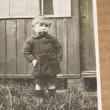 VINTAGE POOR  LITTLE BOY , REAL PHOTO POSTCARD C.1911 TEARJERKER!
