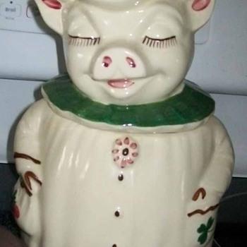 Large Winnie the Pig Cookie Jar