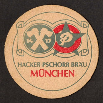 Hacker-Pschorr Brau Munchen - Beer Coaster - Breweriana
