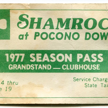 1977 Admission Ticket, Pocono Downs, Wilkes-Barre, PA - Paper