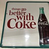 Nice large Coca Cola tin painted sign