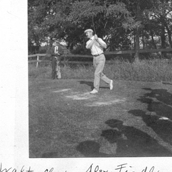 Walter Clark and Alex Findley both famous golfers 1905 - Photographs