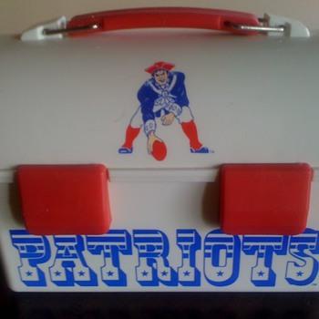 New England Patriot's Lunchbox with Original Team Logo