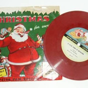 PETER PAN - Vintage Children's Xmas Colored LP Records