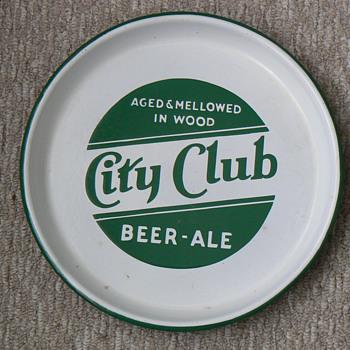 city club beer tray