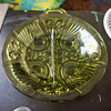 Green Glass Serving Dish