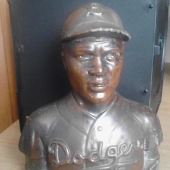 Jackie Robinson Piggy Bank  - Baseball