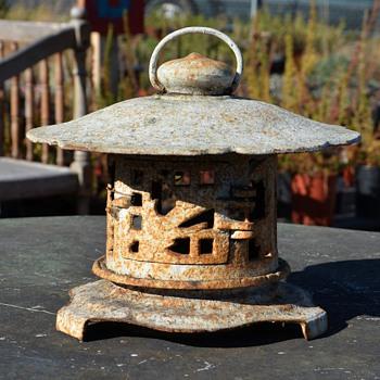 Old Japanese Iron Garden Lantern