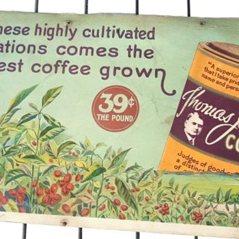 Early 1900's Thomas J. Webb Coffee Advertisement - Signs