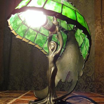 Verte Lady Green Fairy Lamp - Art Nouveau