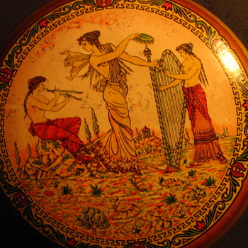 Vanity Jar? With Greek Mythology Transfer Pattern - carnival Prize?