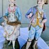 "Need help identifying pair of 15"" bisque figures"