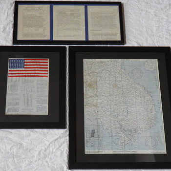 "WWII ""Blood Chit"" and Survival Map - Military and Wartime"