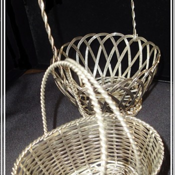 Antique Silver Wire Baskets. - Silver