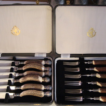 Stroh's fork and knive set - Breweriana