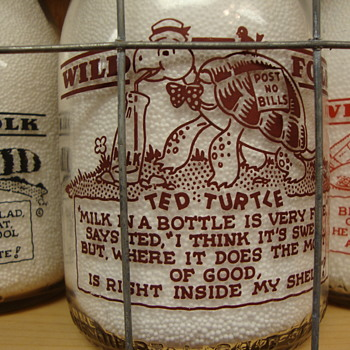 "McVEIGH DAIRY..CHICAGO ILLINOIS..""WILD FOLK SERIES""...TED TURTLE - Bottles"