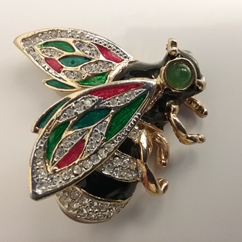 KJL bee brooch  - Costume Jewelry
