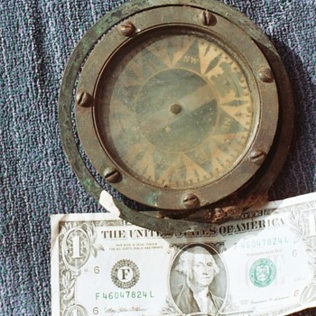 Compass and Last of the Salvage Pieces to Sailboat. - Military and Wartime