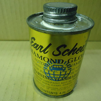 Earl Sheib automotive touch up paint can - Advertising