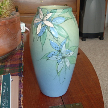 "My Favorite Weller Vase marked TS and 7"" high. - Pottery"