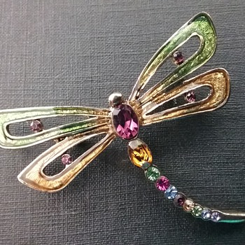 Monet dragonfly brooch  - Costume Jewelry