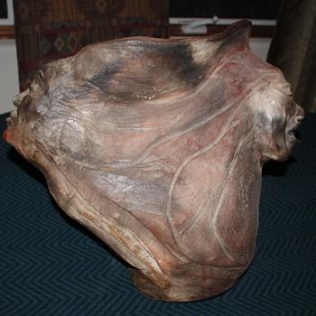 Raku pottery sculpture - sculptor TBD. - Pottery