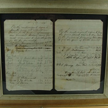 Civil War Union Bounty List. Dated Aug. 31, 1864