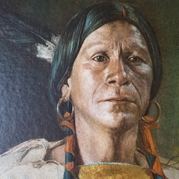 native american portrait print circa 1900 - Native American