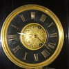 Russells' cast iron antique mantel clock