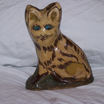Sewer Tile Cat Posted by S.Basinger - Folk Art