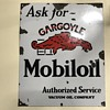 Old Gargoyle Mobiloil porcelain sign