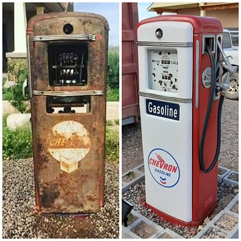 My 1949 Gilbarco 9961ls Model.. Before and After Restoration  - Petroliana