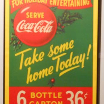 Canadian Cardboard Coca-Cola Signs - Coca-Cola